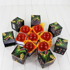 Wholesale Big Size CM DragonBall Stars Crystal Ball Dragon Ball Z Balls Model Doll Toy High Quality Box Packaged Y190529
