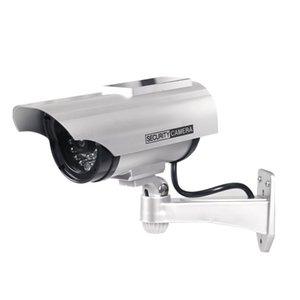 Dummy Camera Solar + Battery Powered Flicker LED Outdoor Fake Surveillance Home Security Camera Video on Sale
