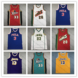 High school LeBron 23 James Shawn 40 Kemp Gary 20 Payton Grant 30 Hil Wilt 13 Chamberlain Allen 3 Iverson Men Basketball Jersey