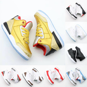Wholesale 2019 New Kids 3 3s Space Jam Bred Concord Gym Red Basketball Shoes Children Boy Girls White Pink Midnight gold Sneakers Toddlers With Box