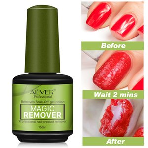 ALIVER Brand Nail Gel Polish Remover Magic Remover Healthy Fast Within 2-3 MINS Gel Nail Polish UV esmaltes permanentes Base Top Coat B on Sale