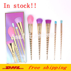 Wholesale Factory Direct Unicorn Makeup Brushes Sets Professional Brands Brush Shimming Spiral Shank Face Eyes Making Up Tools DHL