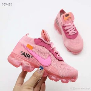 Wholesale 2019 newbrand Air Cushion KPU Running Shoes Kids Sport Black Pink Children Designer Air Flair baby Boys Girls Casual Trainers Sneakers