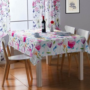 Wholesale table cloths for sale - Group buy Floral Print Decorative Table Cloth Linen Tablecloth High Quality Japan Stlye Rectangle Table Cloth for Restaurant Drop Ship