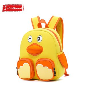 Wholesale Kindergarten Small Yellow Duck Originality Fund Children A Bag Year Men And Women Alleviate Excessive Burden Protect Back Package