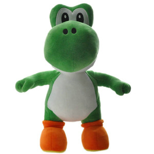 Wholesale Super Mario Bros Standing Yoshi Plush Toys Dolls inch cm Kids Dinosaur Soft Stuffed Doll Cartoon Game Toys for Children Gifts