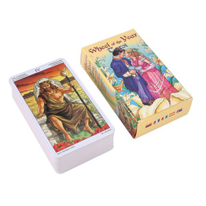 Wholesale 2019 new Wheel Of The Year Tarot Read Fate Tarot Card Game For Personal Use Board Game A card Deck And Guidebook Drop Shipping