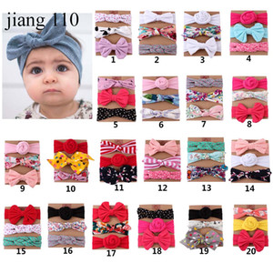 Wholesale Baby girl Headband Unicorn Mermaid hair accessories Knot Bows Bunny band Birthday gift Flowers Geometric Print card Boutique Free Ship