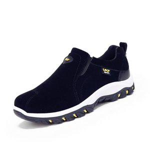 Wholesale 39 Winter Shoes Men Slip On Cotton Lining Men Boots Anti skidding Winter Boots Men Yellow Black Blue Gray