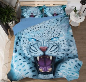 3D Animal Bedding Set Duvet Cover 3D Cartoon Cat Dog Home Textiles 3-Piece Bedclothes with Pillowcase on Sale