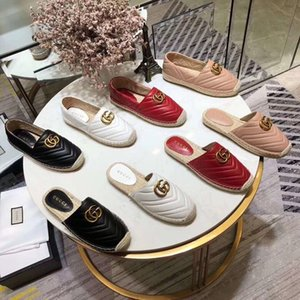 Wholesale designer womens espadrilles casual brand fisherman shoe checks grids stripped canvas slip on snickers skate ballet flats loafers