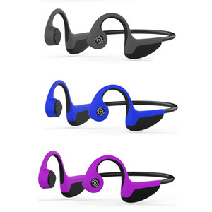 Wholesale Bluetooth Bone Conduction Earphones Sports Headphones NFC Wireless Headset Outdoor Hands Free with Mic New