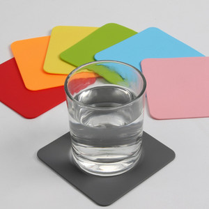Wholesale Silicone Coaster Non Slip Table Mats Square Cup Pad Heat Resistant Silicone Placemats for Cafe Kitchen Restaurant HHA