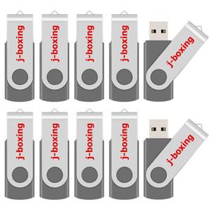 Bulk 200PCS 64MB USB Flash Drives Swivel Gray USB 2.0 Pen Drives Metal Rotating Memory Sticks for Computer Laptop Tablet Thumb Storage