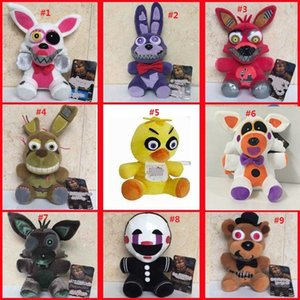 Wholesale 9 Styles Five Nights At Freddy s Plush Toys cm Animals Stuffed Dolls Funny Bears Doll Toys L265