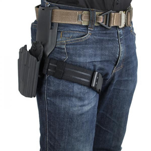 Wholesale thigh holsters resale online - IPSC Thigh Strap leg hanging special elastic band tactical leg belt holster Belt Drop Adapter Mounter Safariland Link Waist Plate