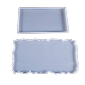 Wholesale craft tables for sale - Group buy Rectangle Fruit Plate Resin Molds Agate Slicone Tray Moulds Resin Jewelry Desktop DIY Silicone Table Mat Molds Epoxy Resin Crafts Make