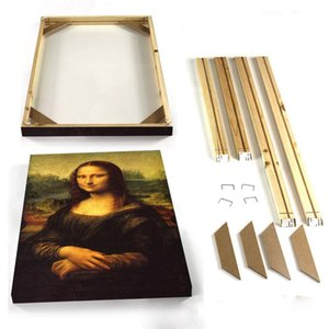 Wholesale Canvas Painting Picture Frames DIY Wall Art Photo Picture Frames Wall Photo Frameless painting Wood Frame for Canvas