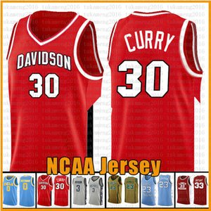 ingrosso maglia da basket eagles -Red Stephen Curry NCAA Davidson Wildcat College Baskey Jersey Wade Richards Marquette Golden Eagles Leonard Irving