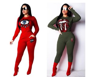 Wholesale Two Pieces Set supremr Casual Sweat Suits Rhinestone Sets Club Outfit Women Top Pants Fashion Long Sleeve Womens Tracksuit