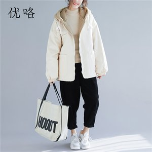 Plus Size Fleece Jacket Women Korean Plus Size Lambswool Jacket Teddy Bear Coat Winter Oversize Femme Faux Fur Coat 5XL 6XL 2018 on Sale