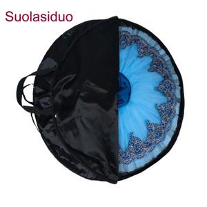 Black Professional Ballet Tutu Bag Rose Red Waterproof Oxford Foldable Soft Ballet Bags Ballet Tutu Case Package