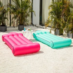 Wholesale Inflatable Air Bed Couch Portable Air Sleeping Bags Lounger Sofa Chair Mattress Lazy Inflate Beanbag Camping Beach Outdoor Hammock MMA1863
