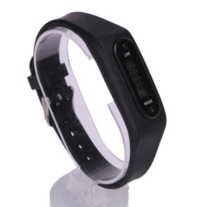 Wholesale Mini Step Counter Electronic Sports Fitness Tracker Electronics Bracelet Built in Battery Watch Number Unisex