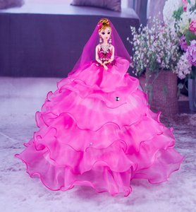 Wholesale 3d A Doll Wedding Dress Cake Baking Princess Suit Tailing Bride Girl Toys Doll