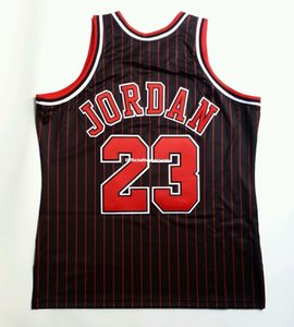 100% Stitched Michael #23 Mitchell Ness Pinstripe 1995-96 Wholesale Jersey XL 48 Mens Vest Size XS-6XL Stitched basketball Jerseys Ncaa