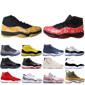 Wholesale dragon arts resale online - New Arrival Vast Grey Concord Bred s Men Basketball shoes Cap and Gown Yellow Red Dragon Platinum Tint Light Bone Sneakers