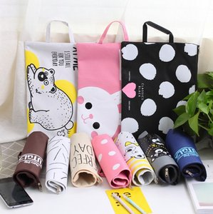 Wholesale Girls ipad notebook bags Big Capacity A4 Document Bag Cute Oxford File Folder Office Stationery Storage Bag for Student Gift x23 cm
