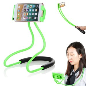 Wholesale Flexible Lazy Hanging Neck Cell Phone Mount Holder Stand Necklace Mobile Phone Support Bracket Degree Hands Free Holder For iPhone