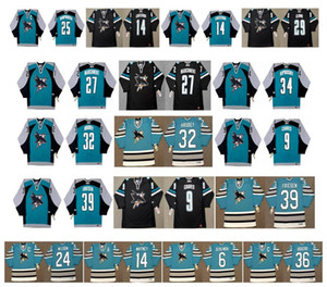 Wholesale san jose shark for sale - Group buy Vintage San Jose Sharks Jersey Doug Wilson Vincent Damphousse Ryane Clowe RAY WHITNEY SANDIS OZOLINSH Jeff Odgers Retro Hockey