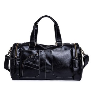 Wholesale Men s Handbag Leather Travel Bag Male Large Capacity Travel Duffle Multifunction Fitness Tote Big Casual Crossbody Shoulder Bags