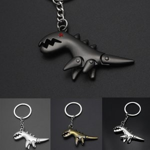 Wholesale Vintage Style Car Key Chains Dinosaur shaped Keychain Metal Car Keyring Pendant Cute Animal Keychains Pendant Oranment Accessories M584Y