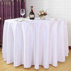 White Polyester Table Cloth Fabric Table Linen Cover for Wedding Home Decoration