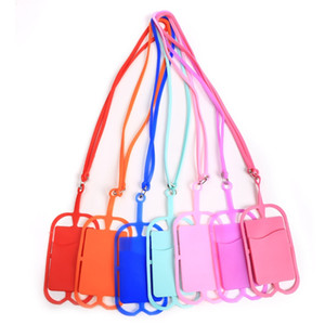 Silicone Lanyards Phone Case Holder with Strap Neck Strap Necklace Sling Card Holder for Universal Mobile Cell Phone