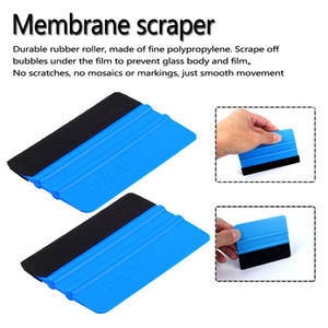Double Sided Car Felt Squeegee Vinyl Film Wrap Blue Scraper Tools Car Sticker Tools Auto Modification Styling Accessories Red Blue HHA120 on Sale