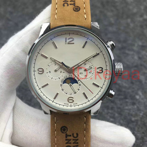 Wholesale Leather Top luxury Mechanical Mens watches designer Stainless Steel Tourbillon Automatic Movement Watch Sports mens Self wind Wristwatches