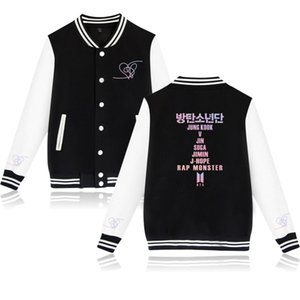 Kpop Casual Baseball uniform Women K- Female Love Yourself Fans Clothes Hip Hop hot sales Harajuku Clothes Baseball