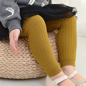 Baby Leisure Tights Pantyhose Solid Striped Double Needle Candy Color Socks Cotton Jacquard Baby Leggings Breathable 40