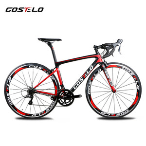 Wholesale 2019 Costelo speedmachine road bicycle carbon bike complete bicycle mm wheels group handlebar stem bici cheap bike