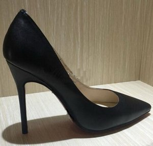 Wholesale Original Box Classic Red Bottom High Heels Brand Women Black Matte Leather Pointed Toes Tip Wedding Party Shoes Womens Stiletto Dress Shoes