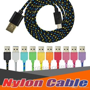 Wholesale 3FT FT FT High Speed Nylon Braided Cables Charging Sync Data Durable Nylon Woven Cords for iphone x Nylon Braided Cables for s7 s8