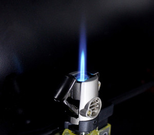 hot brand new single strait flame jet torch lighter windproof refillabe cheap utility portable easy use cigar cigarette torch lighter