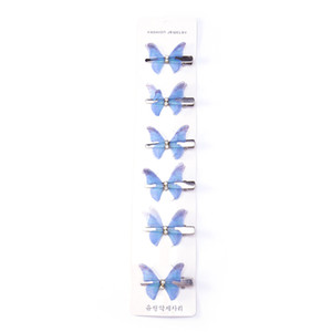 Wholesale Cross border for European and American children s animal hairpins cute butterfly headdress girls bb clip color princess hairpin hair accesso