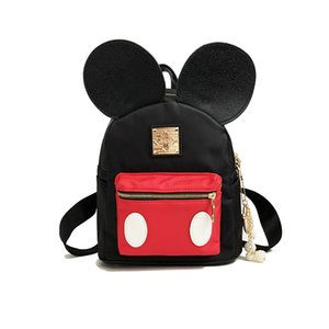 Wholesale Cartoon Backpack Contrast color Mouse School Bag for Teenage Girls Light Waterproof Nylon Student Package Small Travel Backpack