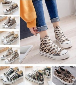 Wholesale Women flat shoe Leopard nightclub female canvas shoes classic print student casual shoes colors can choose