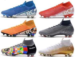 Wholesale high top soccer cleats resale online - Mens High Tops Football Boots Under The Radar Mercurial Superfly VII Elite FG Soccer Shoes Neymar ACC Superfly Outdoor Soccer Cleats